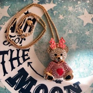 NEW✨ Betsey Johnson Adorable Teddy Bear Necklace